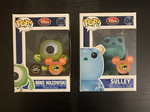 Funko Pop mike gitd and flavored sulley for Sale in Brooklyn, NY