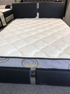 Enzo queen size bed with mattress and free delivery for Sale in Irving, TX