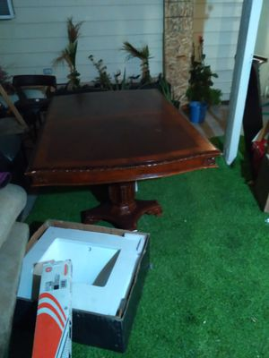 Nice wood kitchen table real wood for Sale in Las Vegas, NV