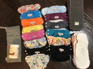 Applecheeks Cloth Diapers Sizes 1 and 2 for Sale in Rancho Cucamonga, CA