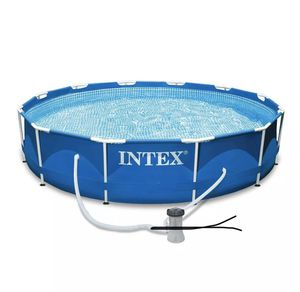 """INTEX 10' x 30"""" Metal Frame Round Above Ground Swimming Pool Set w/ Filter Pump for Sale in Duluth, GA"""