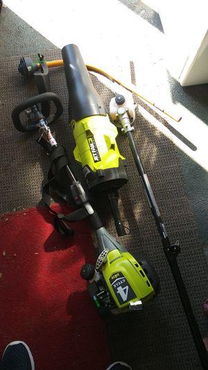 Ryobi gas powerhead with attachments for Sale in Medford, MA