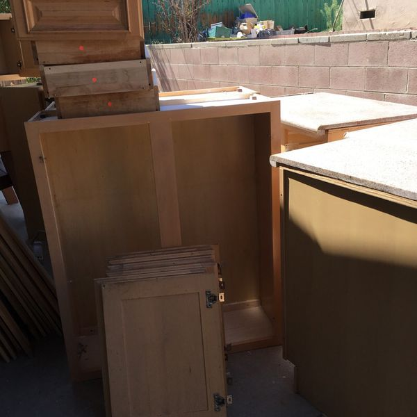 Kitchen set cabinet with granet very clean