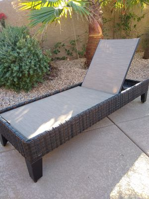 Resin outdoor lounge chair for Sale in Surprise, AZ