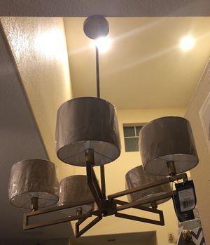 New 5 light gold chandelier for Sale in Clovis, CA