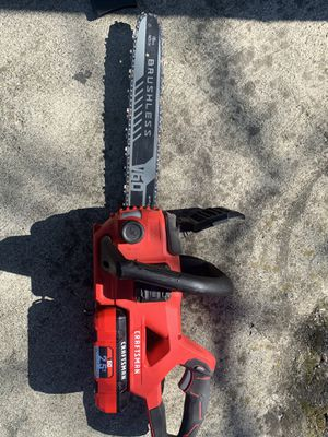 Craftsman V60 16 inch 60V Cordless Chainsaw for Sale in San Leandro, CA