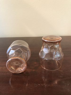 Pink Depression Glass Honeycomb tumblers juice glasses for Sale in Tacoma, WA