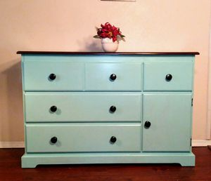 Blue-Green Dresser or Baby Changing table buffet - credenza sideboard console for Sale in Arlington, TX