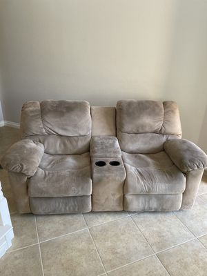 Free sofa ( couch ) with recliner for Sale in Murrieta, CA