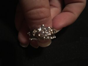 White topaz wedding/engagement ring set for Sale in Terre Haute, IN