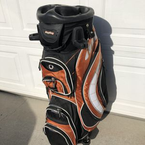 BAG BOY REVOLVER CART GOLF BAG 14-SLOT GRIP LOK SWIVEL SYSTEM! for Sale in Milpitas, CA