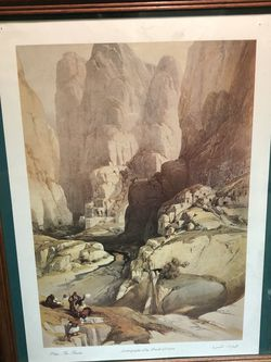 Nice lithograph of Petra. By David Roberts 1839 for Sale in Issaquah,  WA
