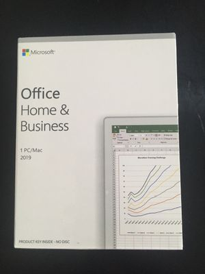 Microsoft Office Home & Business 2019 Retail Box [New] for Sale in Flint, MI