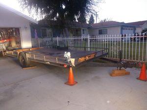Car hauler trailer single axle havy duty whit ramps for Sale in Claremont, CA