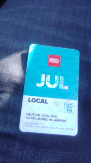 Month pass jult for Sale in Arvada, CO
