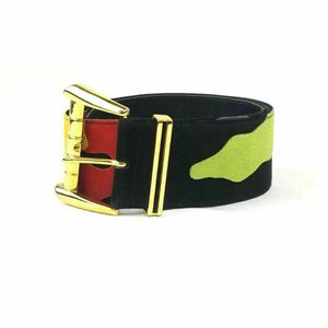 """VINTAGE The Limited Womens Suede Hip Belt MultiColor Abstract Goldtone 26-28"""" S for Sale in Avondale, AZ"""