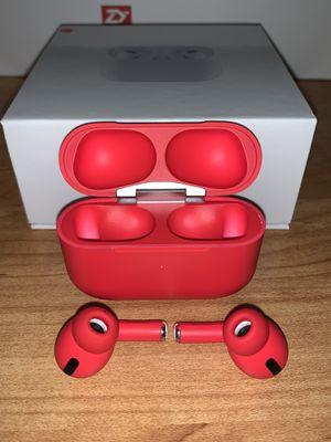 Brand New TWS AirPods Pro, Red Wireless Earphones (DEEP BASS)🔥Clear loud for Sale in San Fernando, CA
