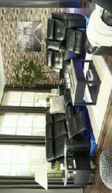 Kempten Black LED Reclining Living Room Set Sofa loveseat for Sale in Houston,  TX