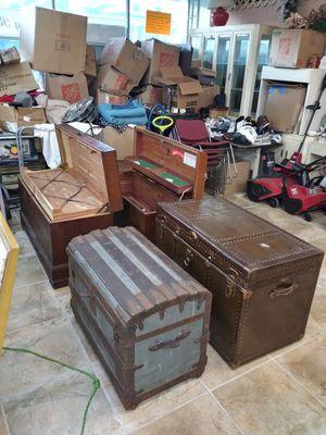 Assorted trunks (antique) for Sale in Cranston, RI