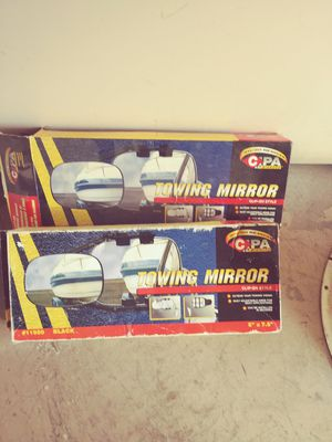 Cpa clip on towing mirrors in box still, will not ship for Sale in Glendale, AZ