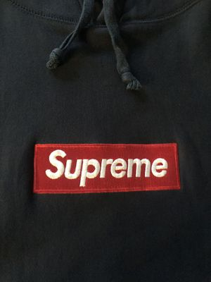 Supreme Box Logo Navy Hoodie Sweatshirt for Sale in Manassas, VA