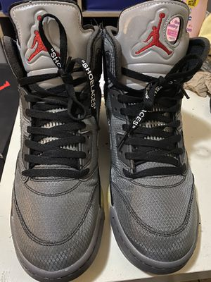 Jordan 5 off white used size 10.5 for Sale in Long Beach, CA