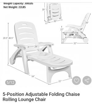 Oversized Folding lounge chair for Sale in Clovis, CA