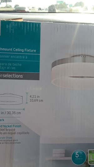 Flushmount ceiling fixture LED light for Sale in Richmond, CA