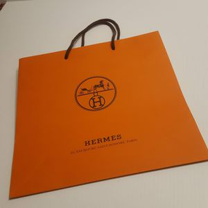 "Hermes Orange Shopping Gift Paper Bags Medium size. Perfect shape. Size 11 ¾"" x 11 ¾"". for Sale in Campbell, CA"