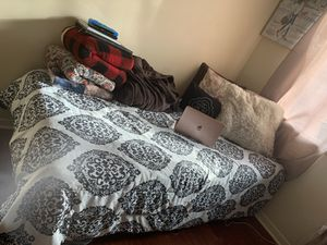 Twin XL mattress + Bed frame for Sale in Englewood, OH