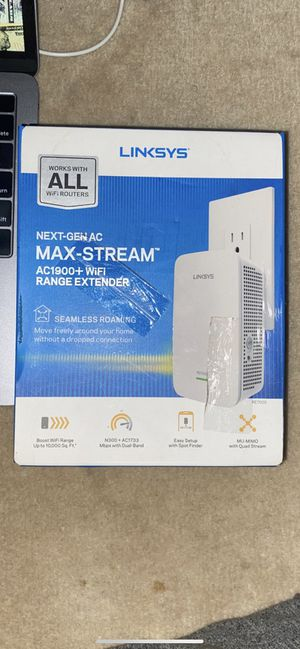 LINKSYS AC1900+ WI-FI RANGE EXTENDER for Sale in Plymouth Meeting, PA
