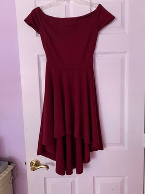 Off-the-Shoulder High Low Burgundy Dress for Sale in Carol City, FL