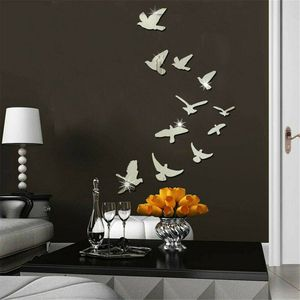 DIY Removable Home 3D Mirror Wall Stickers Decal Art Vinyl Room Decor Birds Fun - FREE SHIPPING for Sale in Pompano Beach, FL