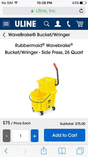 Rubbermaid wavebreak commercial mop bucket for Sale in PECK SLIP, NY