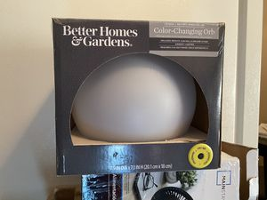 Indoor/outdoor color changing orb w/ remote for Sale in Columbus, OH