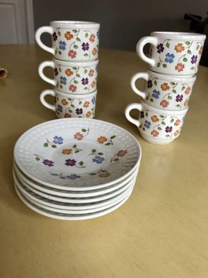 6 COFFEE CUPS & SAUCERS for Sale in Fairfax, VA