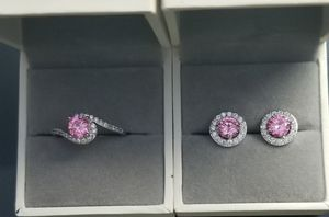 18kt white Gold Filled Simulated Pink Diamond Ring Earring Set Size 7,8,9 for Sale in Silver Spring, MD