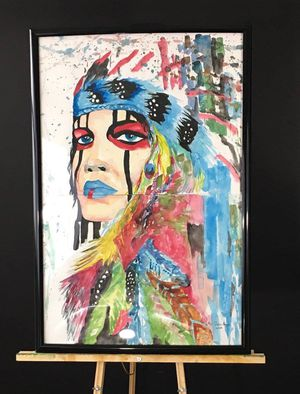 Decorative Watercolor Portrait for Sale in Akron, OH
