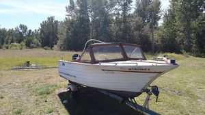 1964 -17ft wood t&t pleasure boat w/65Merc for Sale in Arlee, MT