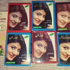 Noorami HENNA For The HAIR Brand New 7 Boxes Black Henna Burgundy Henna Red Henna for Sale in Culver City, CA