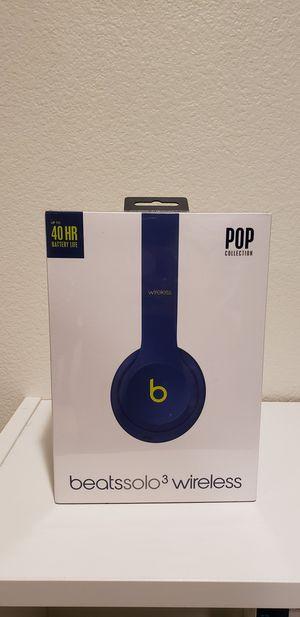 Apple Beats Solo 3 wireless By Dr. Dre (Indigo) for Sale in San Dimas, CA