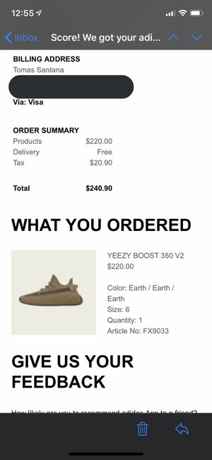 adidas Yeezy Boost 350 V2 Earth sz 6 for Sale in Whittier, CA