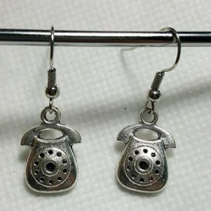 Telephone 925 sterling silver Beautiful Charms Earrings -Good for all occasions for Sale in Queens, NY