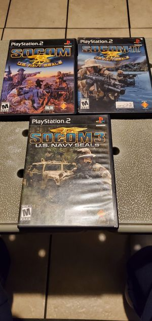 SOCOM U.S NAVY SEALS 1.2.3 .PLAYSTATION 2 for Sale in Los Angeles, CA
