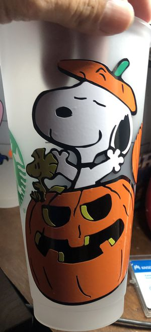 Snoopy Halloween Custom Starbucks Cup- Personalized for Sale in Montebello, CA