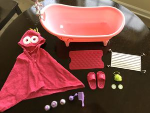 """Our Generation Bathtub Accessories 18"""" Doll for Sale in Inwood, WV"""