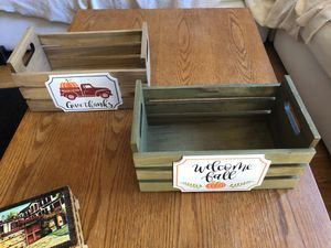 Wooden decorative boxes (2) for Sale in Sunnyvale, CA