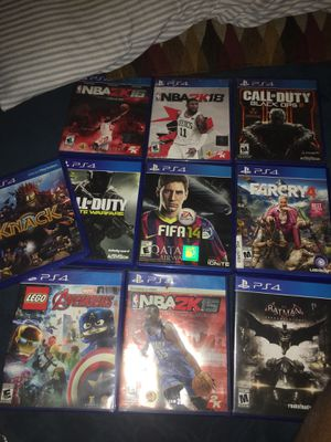 PS4 games (PlayStation 4) for Sale in Anaheim, CA