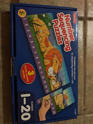 Number Sequencing Wooden Puzzle Game for Sale in Floral Park, NY