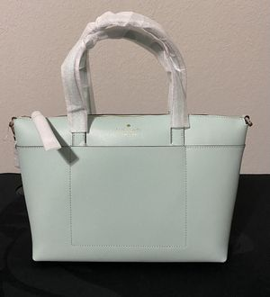 Kate spade New York satchel baby blue/tiffany blue with adjustable strap for Sale in San Antonio, TX